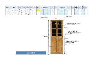 佐藤産業 1860食器棚 エリス(九) 925301107-01109のサムネイル
